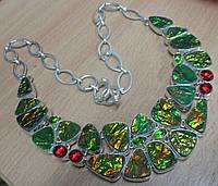 """Экзотическое колье с аммолитом """"Крыло бабочки"""",  от Студии  www.LadyStyle.Biz, фото 1"""