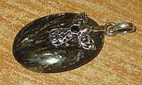 """Шикарный серебряный кулон """"Ангел""""   с натуральным золотистым серафинитом   от студии LadyStyle.Biz, фото 1"""