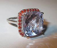 """Шикарный перстень с султанитом  и сапфирами """"Солнечная дымка"""", размер 17 от студии LadyStyle.Biz"""