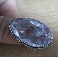 """Шикарное кольцо """"Розовая капля"""" с розовым топазом, размер 17,6 от студии LadyStyle.Biz"""
