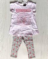Детский летний костюм для девочки H&M 4-6 мес,6-9 мес,9-12 мес