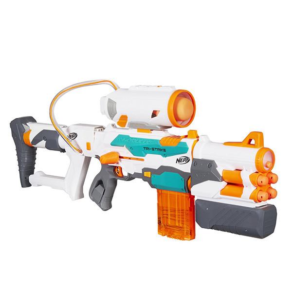 Бластер Нерф детское оружие Модулус Три Страйк Hasbro Nerf B5577