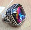 """Радужное кольцо """"Квадро"""" с мистик топазом, размер 19 от студии LadyStyle.Biz"""