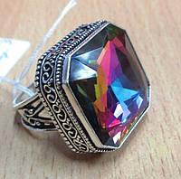 """Радужное кольцо """"Квадро"""" с мистик топазом, размер 19 от студии LadyStyle.Biz, фото 1"""