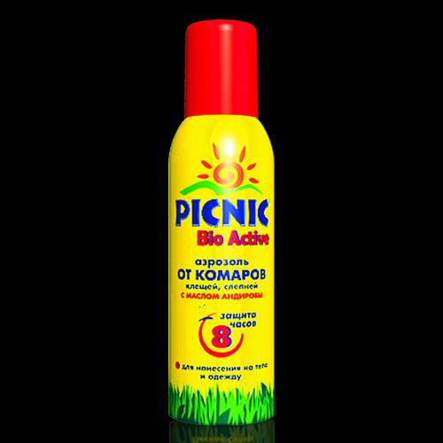 Средство от комаров Пикник Picnic Аэрозоль 8 ч. Bio Active