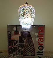 Подвесной светильник люстра с эффектом 3D Vitoraina Art250 champagne E27