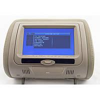 Подголовник с монитором и DVD-проигрывателем KLYDE Ultra 745 HD Beige (бежевый) 17402 (17402)