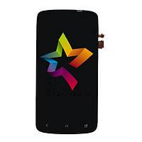 Дисплей для мобильного телефона HTC One S/G25/Z320e/Z560e, черный, с тачскрином
