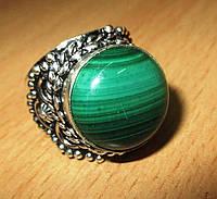 """Восточное кольцо """"Роксолана"""" с натуральным малахитом, размер 18,5 от студии LadyStyle.Biz, фото 1"""