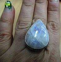 """Серебряный перстень """"Лунная капля"""" из натурального лунного камня , размер 18,9 от студии LadyStyle.Biz, фото 1"""