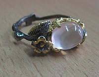 """Элегантный перстень """"Розовая мечта """" с с розовым кварцем , размер 18,6 от студии LadyStyle.Biz, фото 1"""