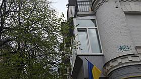 Остекление балкона с выносом от подоконника (г. Киев) 12,52 м2 1