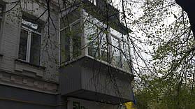 Остекление балкона с выносом от подоконника (г. Киев) 12,52 м2 3