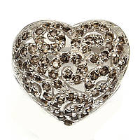 """Сердечное кольцо с раухтопазами """"Сердечко"""" , размер 18.2 от студии LadyStyle.Biz, фото 1"""