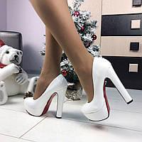 c184ad75041e Белые туфли на каблуке в Виннице. Сравнить цены, купить ...