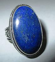 """Овальное кольцо """"Индиго"""" с лазуритом, размер 17,8 от студии LadyStyle.Biz"""
