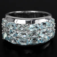 """Широкий  перстень с натуральным топазом """"Королевский"""", размер 18,1 от студии LadyStyle.Biz, фото 1"""