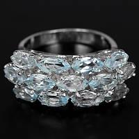 """Элегантное кольцо с натуральным топазом """"Нева"""", размер 16,8 от студии LadyStyle.Biz, фото 1"""