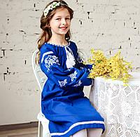 Вышитое платье для девочки на длинный рукав , фото 1