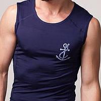 Мужская футболка без рукав белый, бирюзовый, желтый, красный, молочный, мятный, темно-синий, черный, электрик