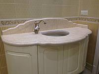 Мраморная столешница в ванную