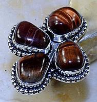 """Шикарный перстень  с бычьим глазом """"Клевер"""", размер 18.8 от Студии  www.LadyStyle.Biz, фото 1"""