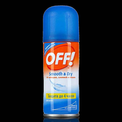 Офф Нежная защита Off  smouth and dry Аэрозоль средство от комароф