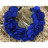 Ободок «Синие розы», фото 1