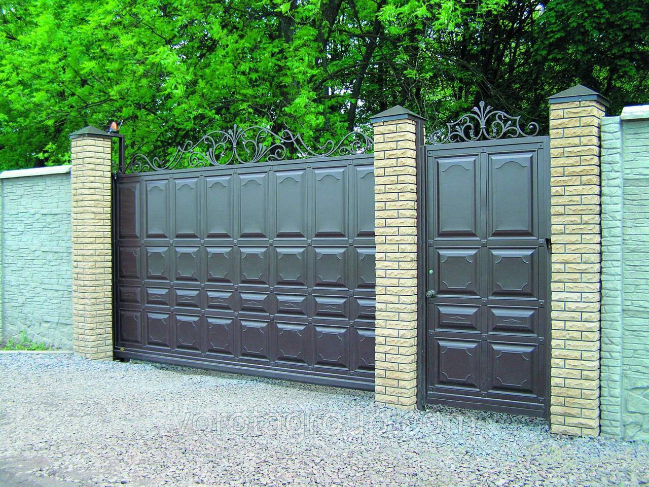 Откатные ворота филёнчатые 2.8м*2м - Ворота Груп - Все для Ворот и Автоматики в Харькове