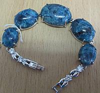 """Браслет """"Жозефина"""" синий КИАНИТ 17 см от Студии  www.LadyStyle.Biz, фото 1"""