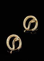 Изящные серьги со змейками от Студии  www.LadyStyle.Biz