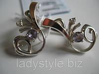 """Изысканные серьги """"Соната"""" с натуральным аметистом от Студии  www.LadyStyle.Biz, фото 1"""