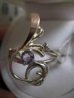 """Изысканное кольцо с аметистом """"Соната"""" размер 18 от Студии  www.LadyStyle.Biz, фото 1"""