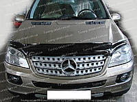 Дефлектор Мерседес МЛ Класс W164 (мухобойка на капот Mercedes ML Class W164)