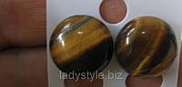 Серьги-гвоздики с тигровым глазом от студии LadyStyle.Biz, фото 1