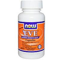 Ева  Витамины для женщин (Без железа) 120 капс женские мультивитамины Now Foods USA