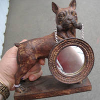 Статуэтка бульдог с зеркалом от студии LadyStyle.Biz, фото 1