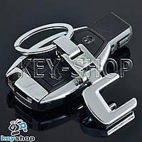 Металлический брелок для авто ключей Mercedes C - Class (Мерседес С - Класс)