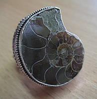 Элегантное колечко с аммонитом, размер 19,8 от студии LadyStyle.Biz, фото 1