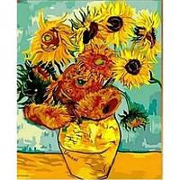 Картины по номерам/обложка. Подсолнухи Ван Гог. 40*50