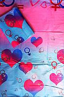 Полуторный комплект постельного белья LOVE