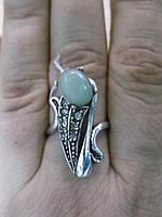 """Кольцо с нефритом """"Рыбка"""", размер 18 от Студии LadyStyle.Biz , фото 1"""