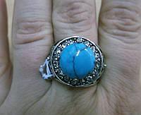 "Кольцо с бирюзой  ""Даринка"", размер 18 от Студии LadyStyle.Biz, фото 1"