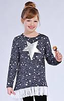 Черная туника Звезда для девочки