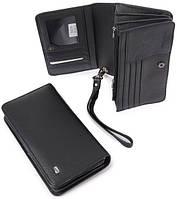 Мужской кожаный кошелек портмоне клатч мини барсетка сумочка dr. Bond натуральная кожа