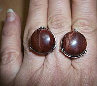 """Потрясающие серьги с бычьим глазом """"Джимми"""" от Студии  www.LadyStyle.Biz, фото 1"""