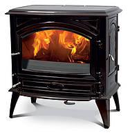 Чугунная мульти печь Dovre 760 GM/Е6 эмаль коричневая майолика- 11 кВт