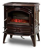 Чугунная печь на угле Dovre 640 GK/E6 коричневая майолика эмаль - 9 кВт