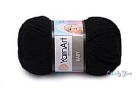 Турецкая пряжа YarnArt Baby черный №585