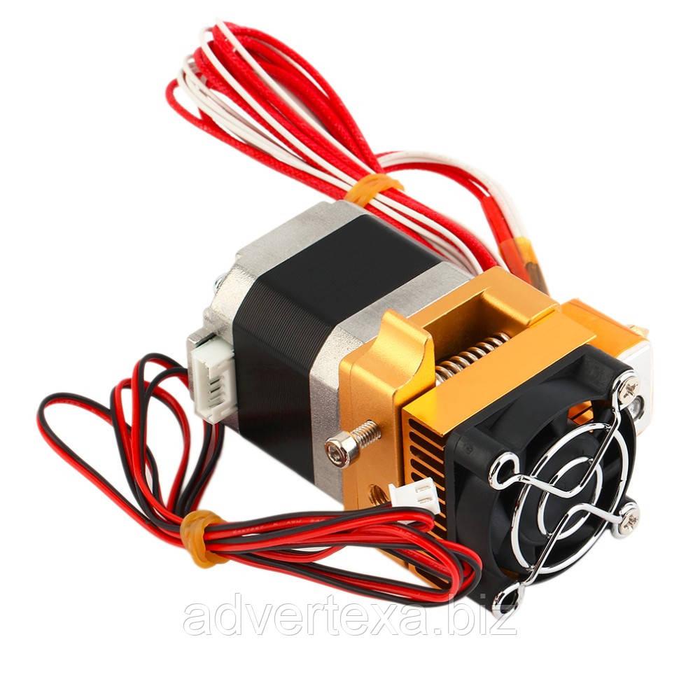Головка 3D-принтера MK8 экструдер под нить 1.75 мм. сопло 0.4 мм.